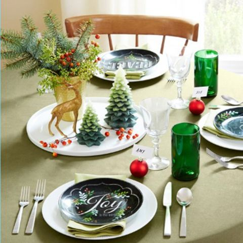 christmas table decorations tree boughs
