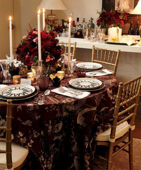 christmas party ideas joy moyler music dinner table setting