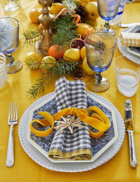 christmas table setting lewis miller