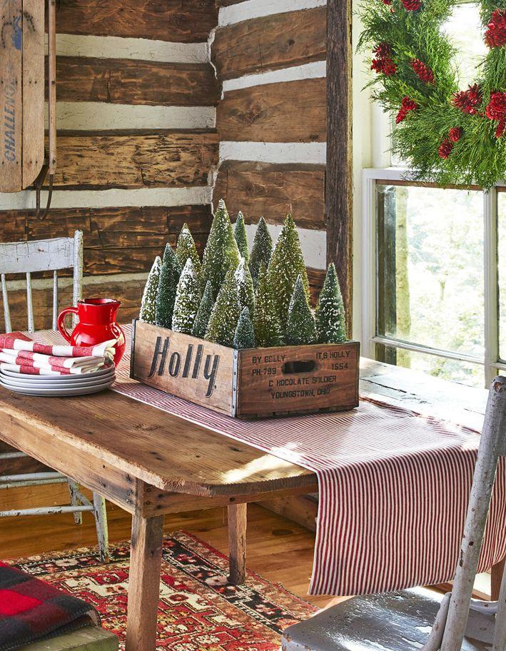 christmas table settings centerpiece