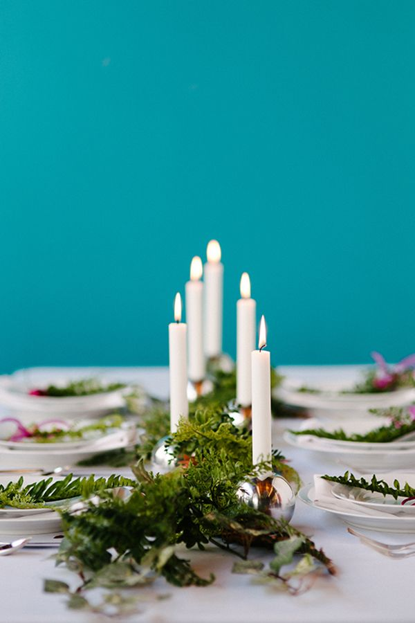christmas table settings centerpieces candles