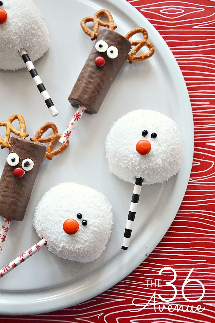christmas treats reindeer snowman