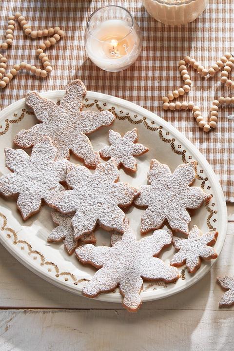 christmas treats snowflake cookies