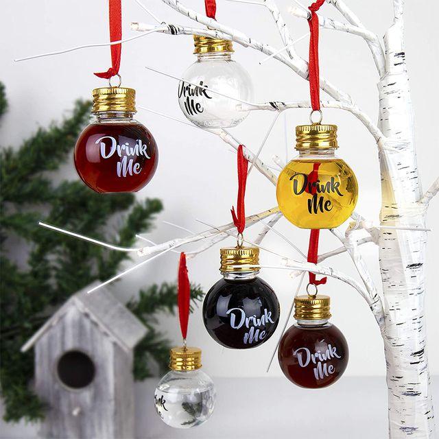 boozeballs booze filled christmas tree ornaments