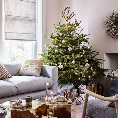 Chic Christmas living room look