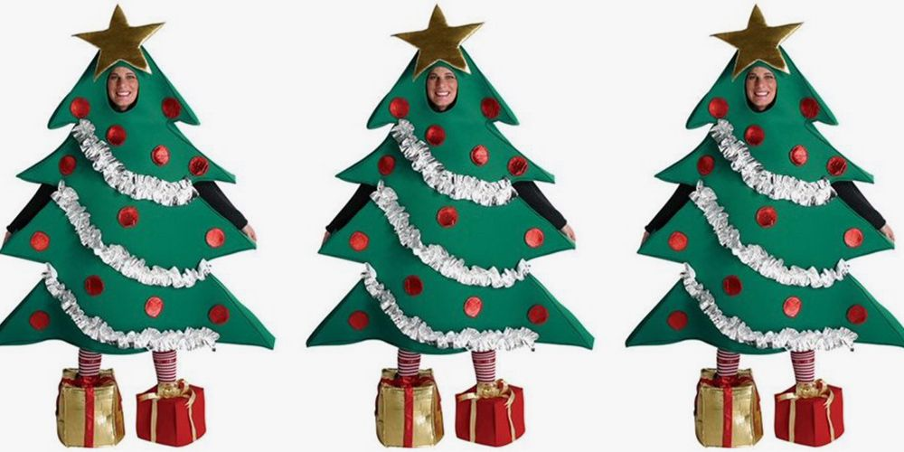 Holy Santa! This Christmas Tree Costume Is on Another Level