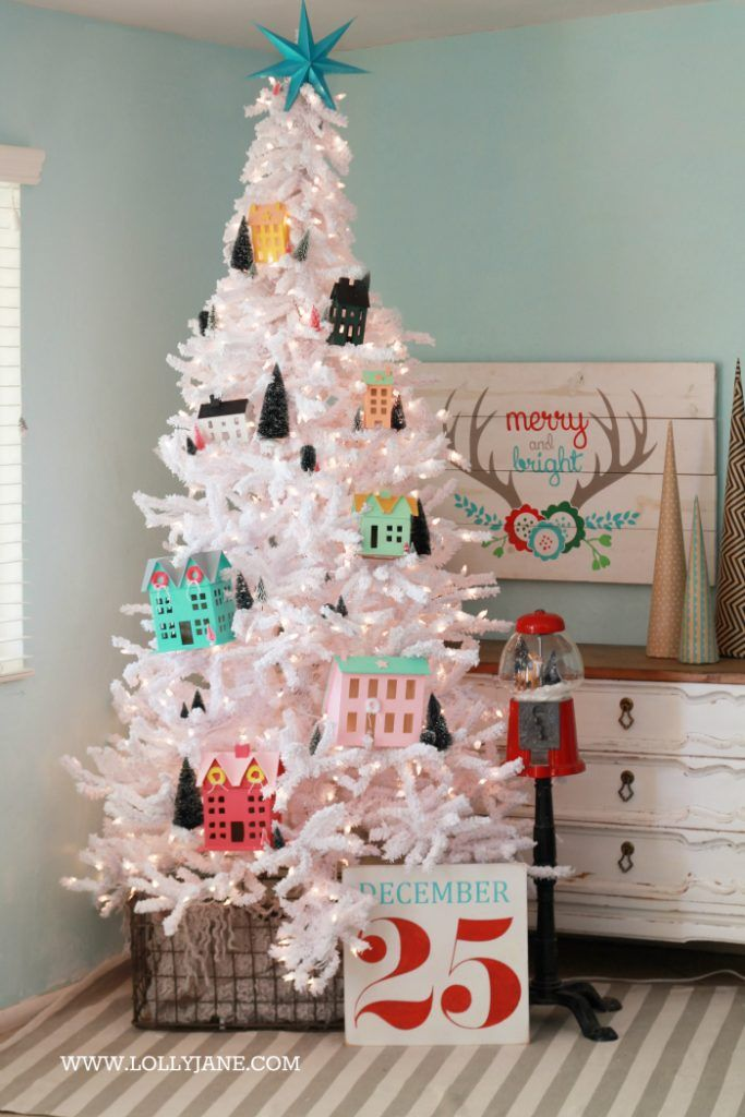 Diy Christmas Village Christmas Tree Decorating Idea