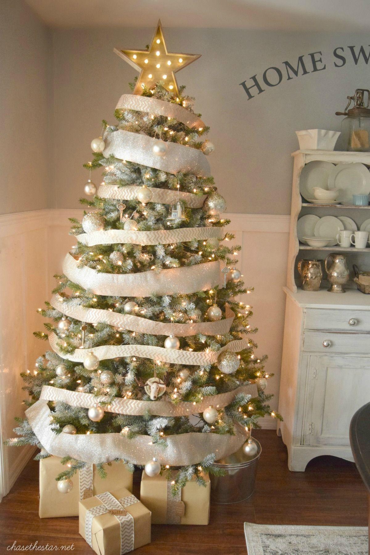 Christmas Tree Decorating Ideas Marquee Light