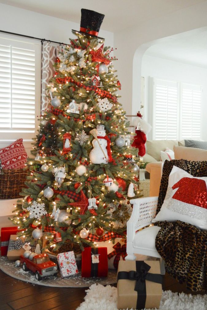 Christmas Tree Decorating Ideas Snowman