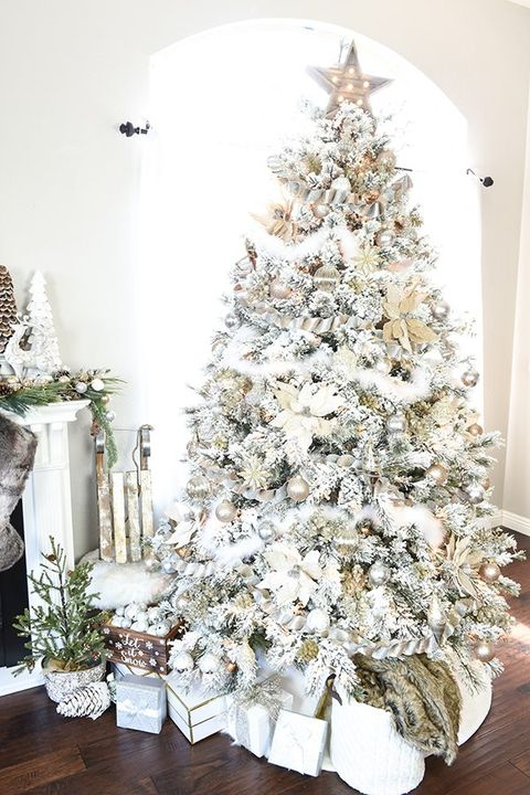 christmas tree decorating ideas winter wonerland