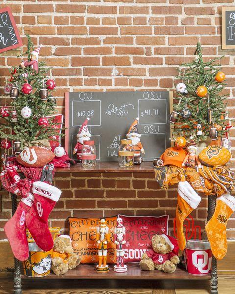 oklahoma sports themed christmas decorations