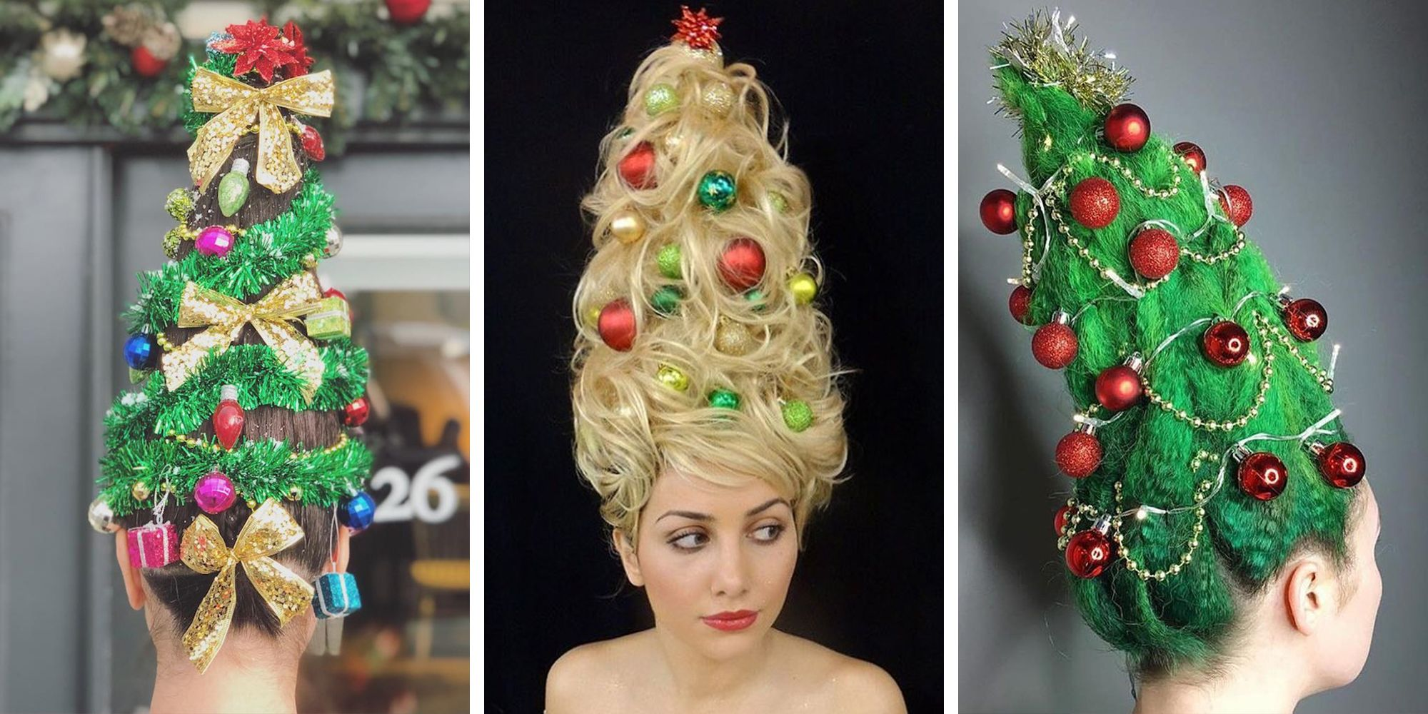 Christmas Tree Hair Will Broadcast Your Love for the Holiday Season