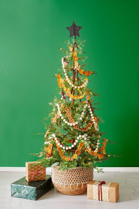 christmas tree ideas, rustic christmas tree