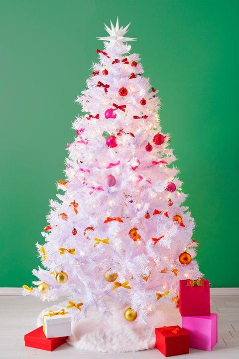 christmas tree ideas, white christmas tree