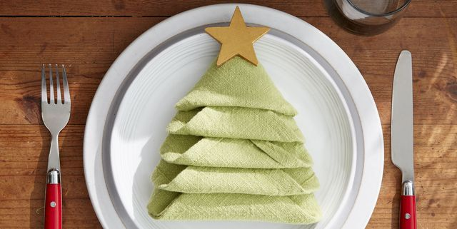 How to Make a Christmas Tree Napkin Fold for Your Holiday Table