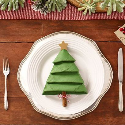 Diy These Christmas Tree Napkins This Holiday Season How