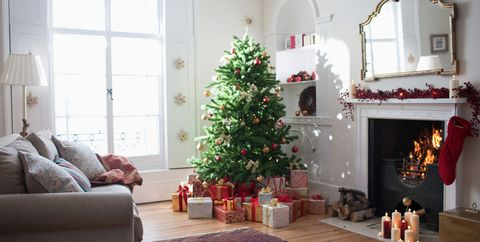 christmas tree surrounded with gifts - Cheap Christmas Tree Stands