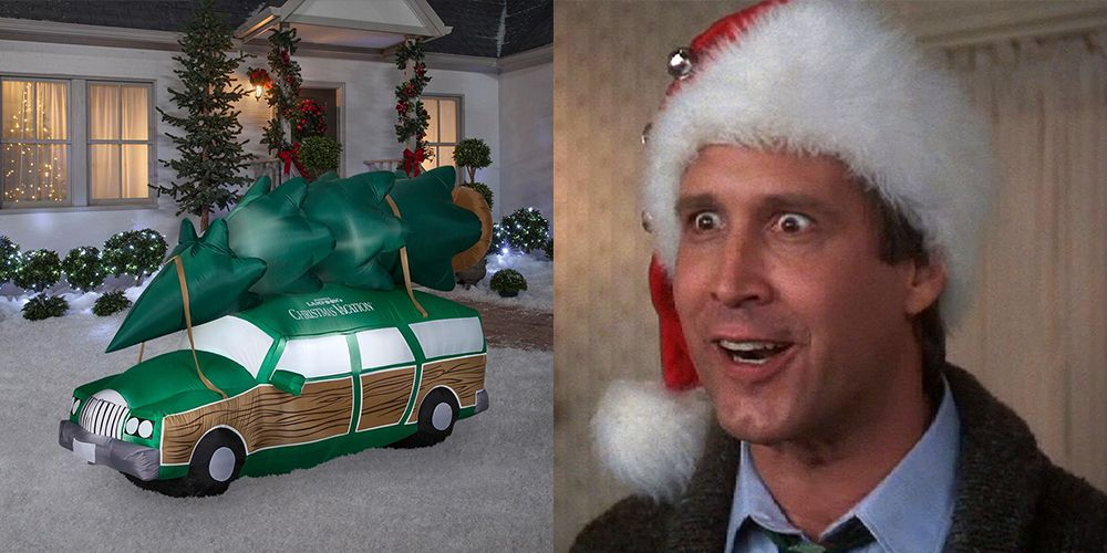 Christmas Vacation Car.A Giant Christmas Vacation Station Wagon Inflatable Exists