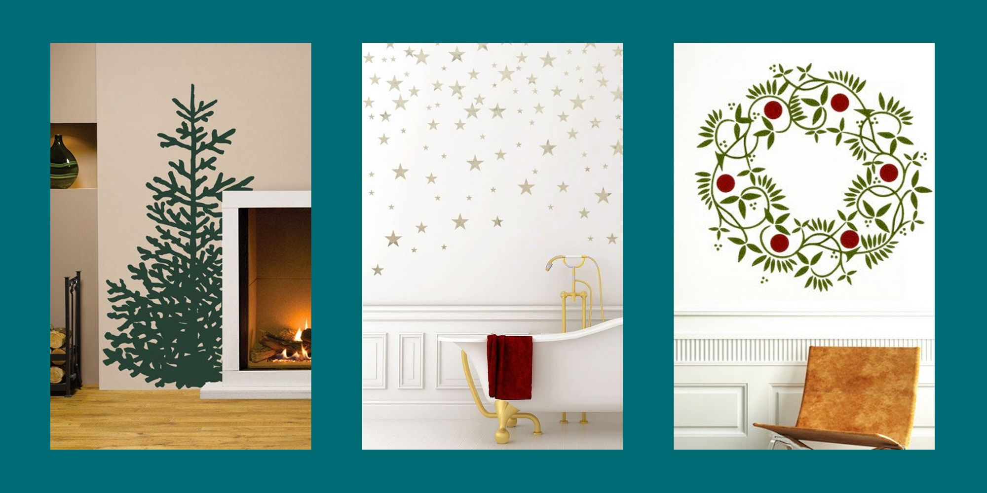 15+ Christmas Wall Decals That Are Totally Chic (And Oh So Simple)