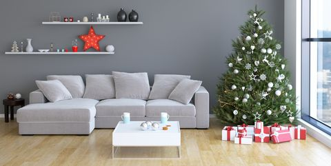 christmas livingroom interior - Christmas Wall Decoration Ideas