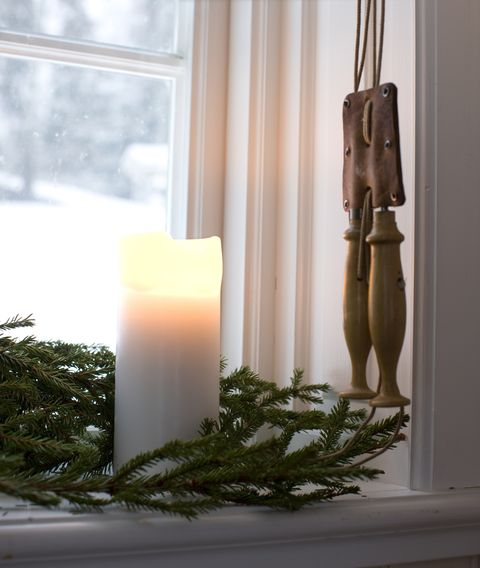 christmas decoration on window sill