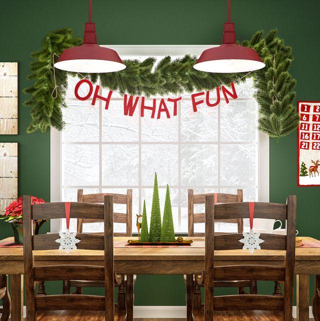 christmas window decorations garland