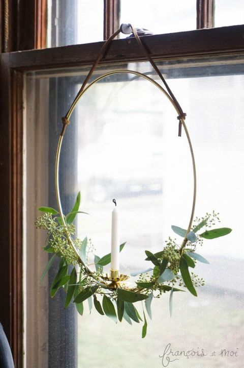 christmas window decorations candle