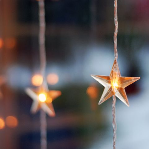 christmas window decorations hanging stars
