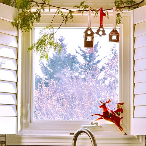 christmas window decorations kitchen decor