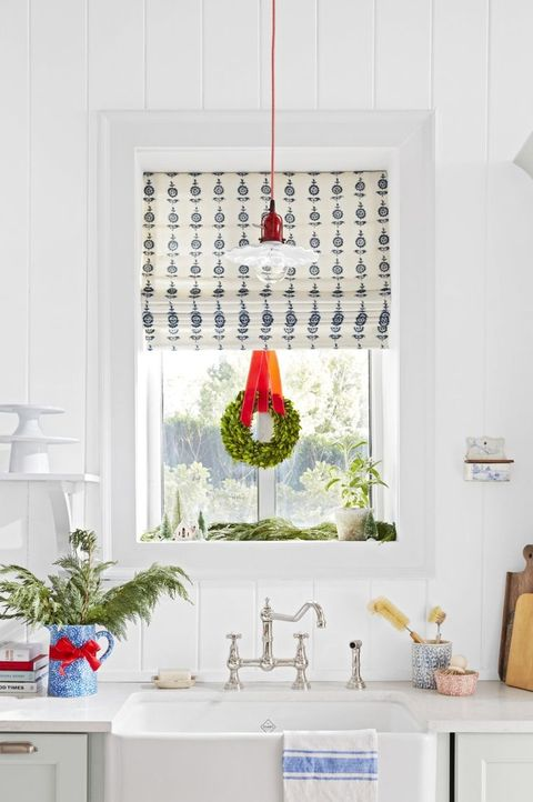 christmas window decorations diy ribbon wreath