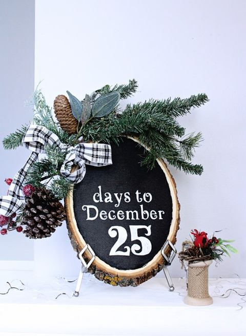 christmas wood crafts chalkboard countdown sign