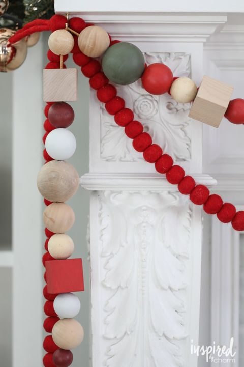 christmas wood crafts garland