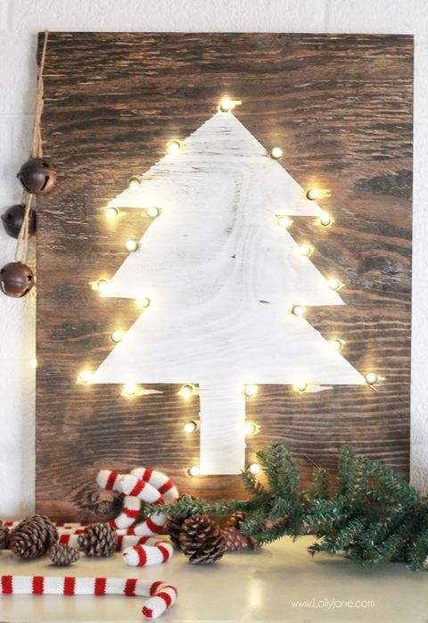 christmas wood crafts tree marquee sign