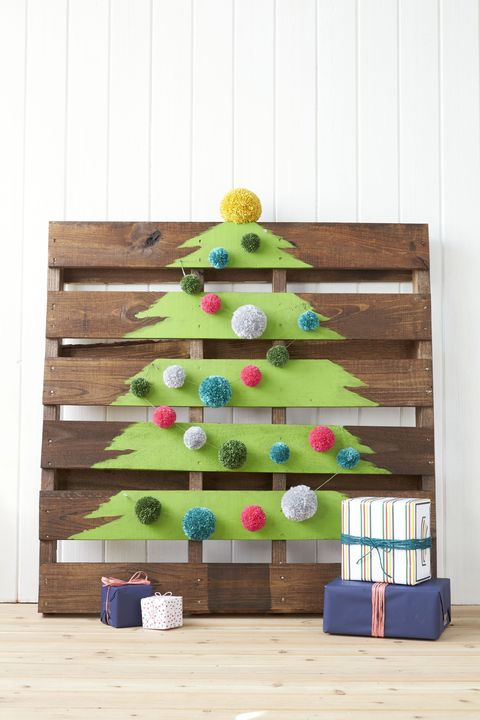christmas wood crafts pallet tree