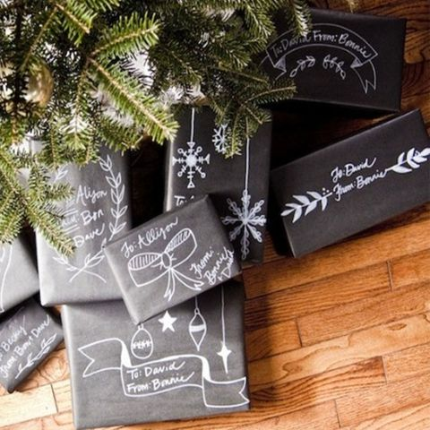 christmas-wrapping-ideas-chalkboard-paper