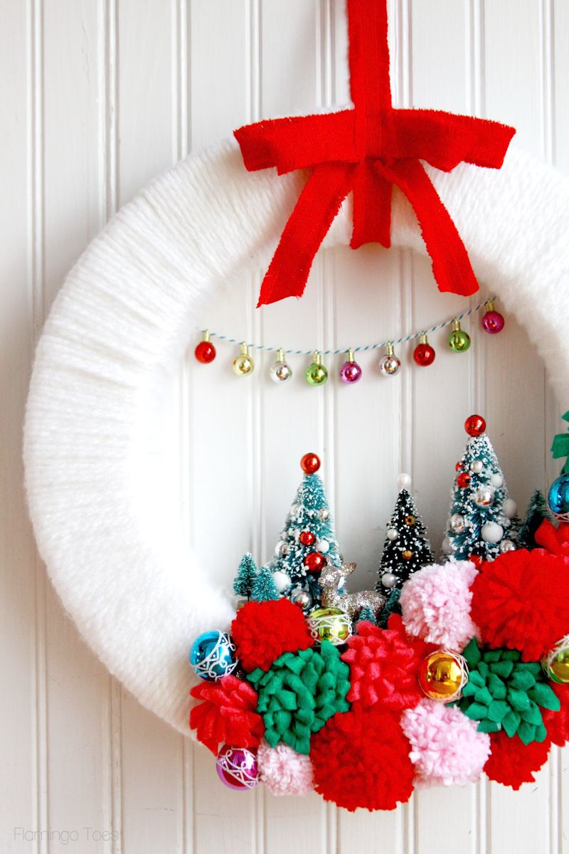 christmas wreath ideas retro