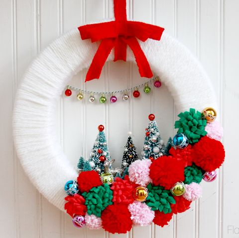Christmas Ribbon Wreaths.60 Diy Christmas Wreaths How To Make A Holiday Wreath Craft