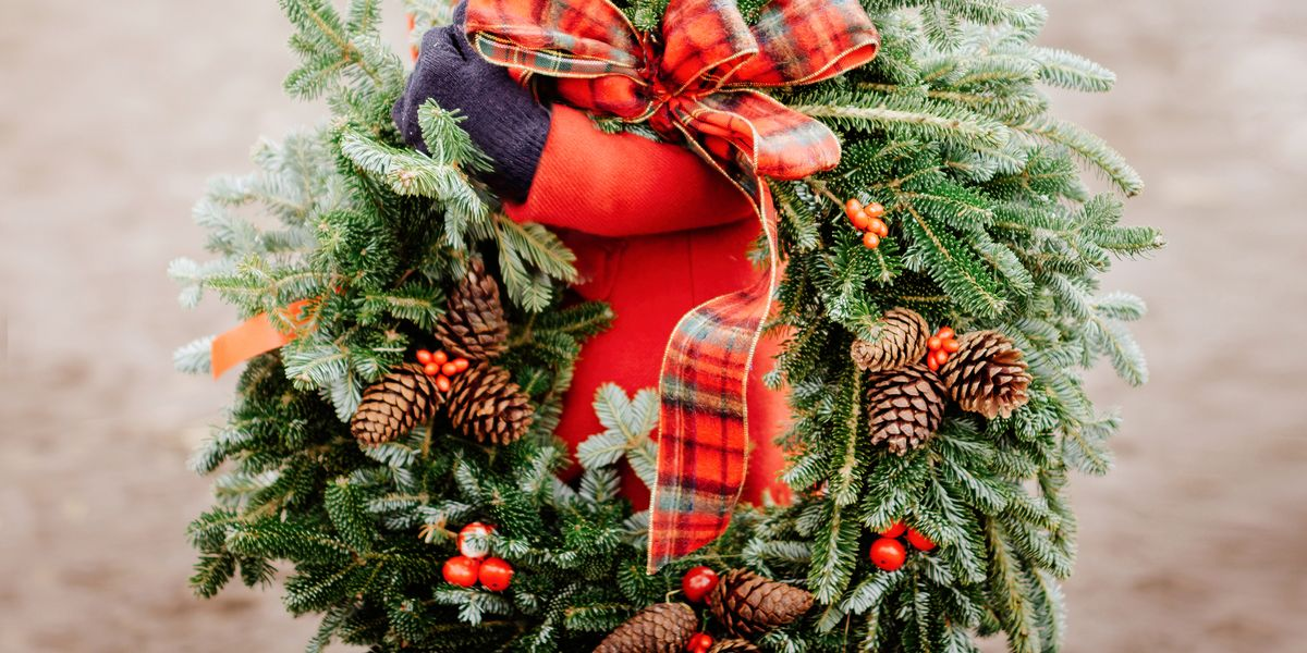 Christmas Wreaths.The Holidays Aren T Here Until You Hang A Christmas Wreath