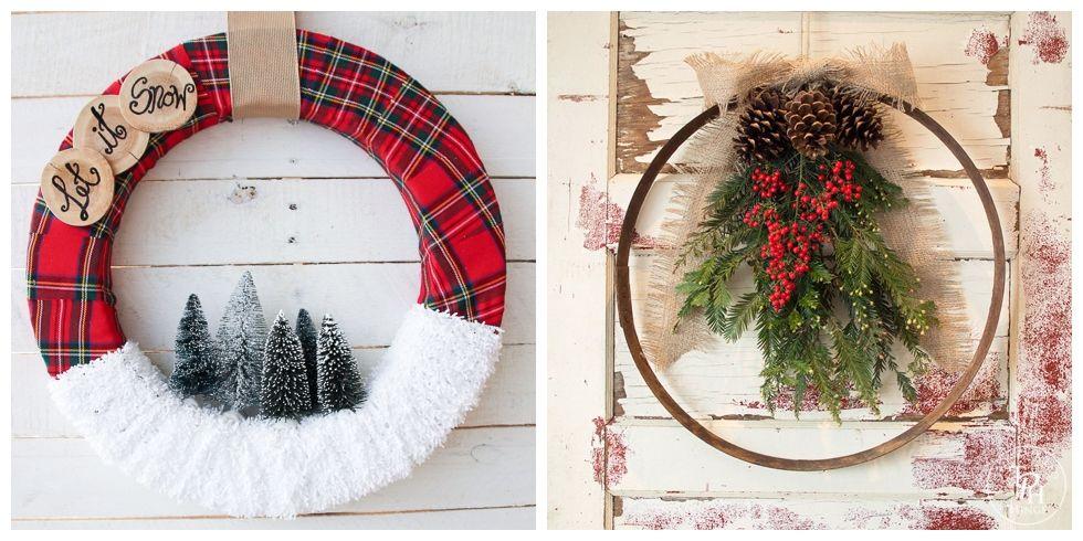 50 Diy Christmas Wreath Ideas How To Make Holiday