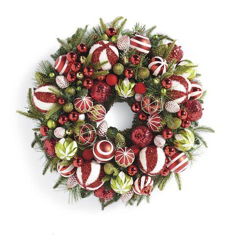 christmas wreaths - Red Christmas Wreath
