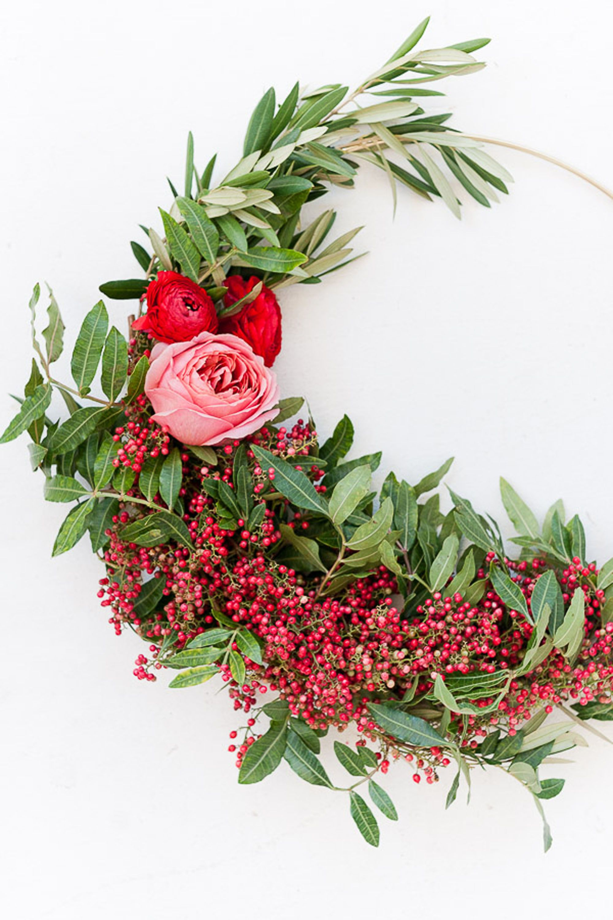 christmas wreaths asymmetrical