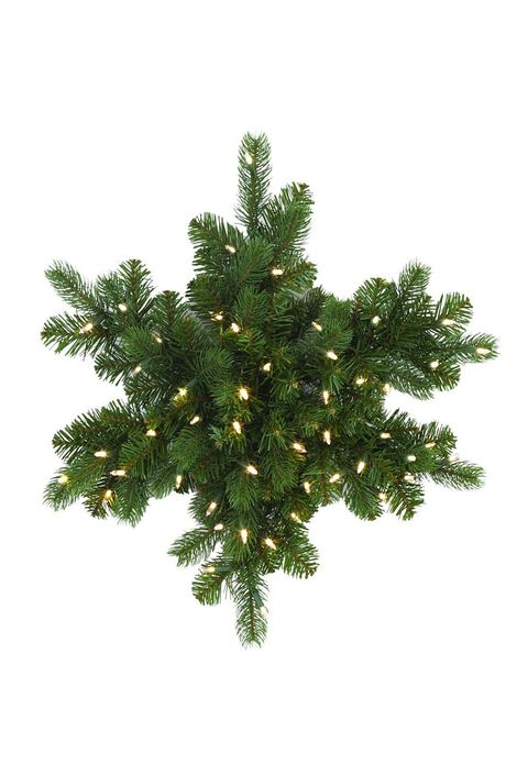 home depot pre lit artificial snowflake christmas wreath