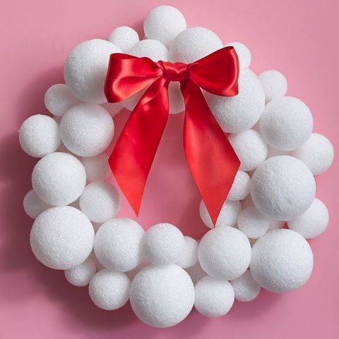 christmas wreath ideas styrofoam ball wreath