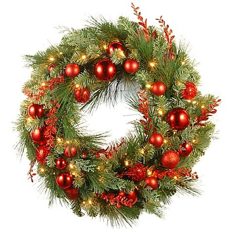 60 Best Christmas Door Wreath Ideas 2017 - Decorating with ...