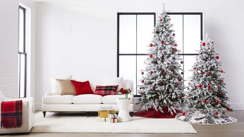 williams sonoma flocked christmas trees