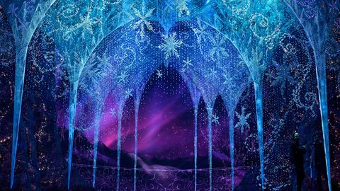 frozen the musical snowflake background