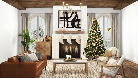 havenly christmas living room