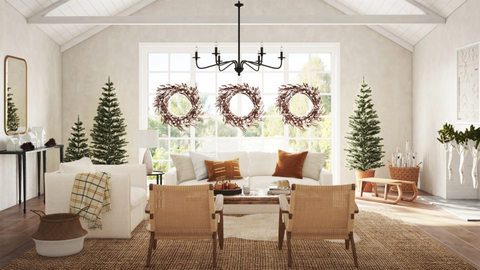 havenly pacific christmas dining room