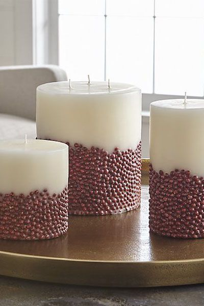 Christmas Table Decorations Vanilla-Scented Inclusion Candle