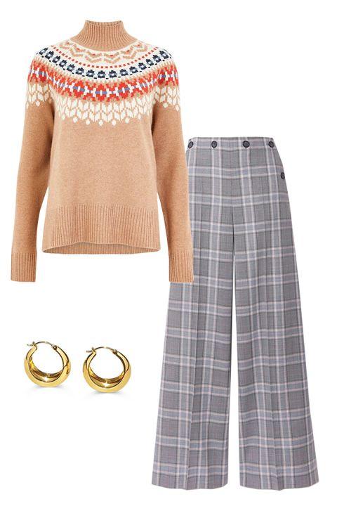 Clothing, White, Pink, Plaid, Sleeve, Pattern, Neck, Beige, Fashion, Design,
